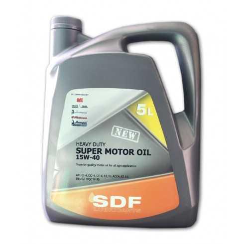 Aceite SDF Super Motor 15W40 en 5 Litros