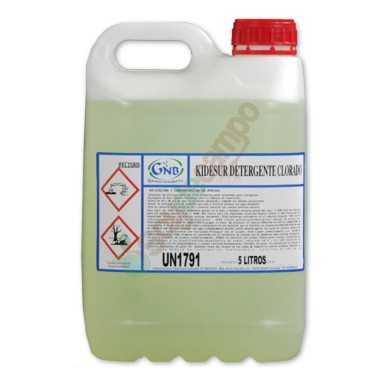 Detergente Clorado en 20L (Cajas 4X5 Litros)