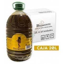 Aceite de Oliva Virgen Extra BELMONTE en Cajas de 4x5 Litros