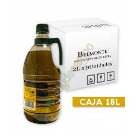 Aceite de Oliva Virgen Extra BELMONTE en Cajas de 9x2 Litros