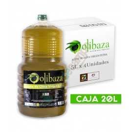 Aceite de Oliva Virgen Extra OLIBAZA en Cajas de 4x5 Litros