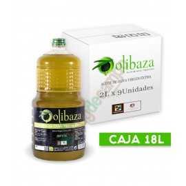 Aceite de Oliva Virgen Extra OLIBAZA en Cajas de 9x2 Litros