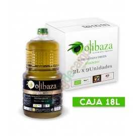 Aceite de Oliva Virgen Extra Olibaza ECOLÓGICO en Cajas de 9x2 Litros