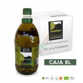 Aceite de Oliva Virgen Extra CAMPOPINEDA en Cajas de 4x2 Litros