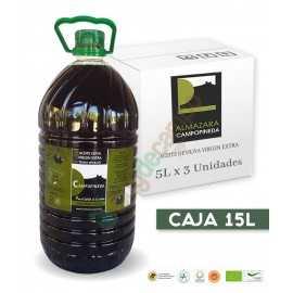 Aceite de Oliva Virgen Extra CAMPOPINEDA en Cajas de 3x5 Litros