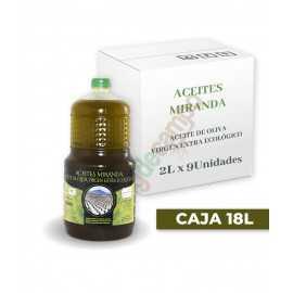 Aceite de Oliva Virgen Extra ECOLÓGICO en cajas de 9x2 Litros